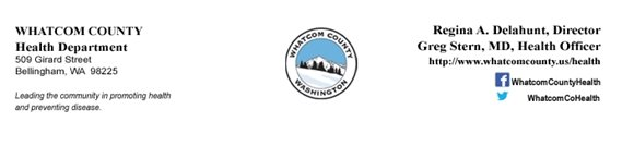 Whatcom County Health Department http://www.whatcomcounty.us/health