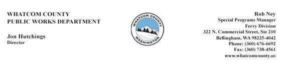 Whatcom County Public Works Department - Ferry Division
