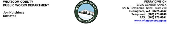 Whatcom County Ferry Division Letterhead