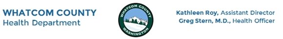 Whatccom County Health Department letterhead