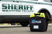 Whatcom County Sheriff's Office vehicle with AED