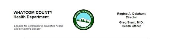 Whatcom County Health Department Media Release