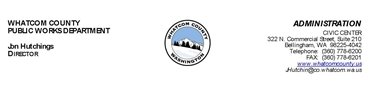 Whatcom County Public Works Press Release