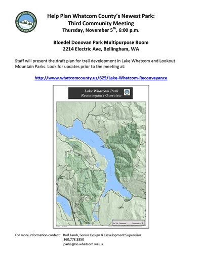Third Community Meeting - Lake Whatcom and Lookout Mountain Park Development