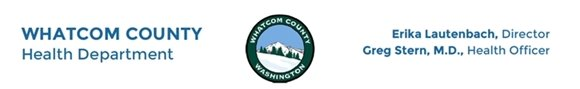 Whatcom County Health Department letterhead