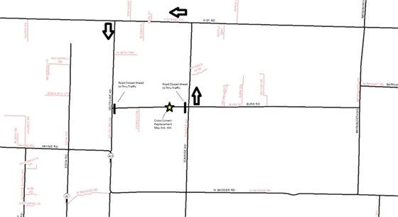Burk Road Detour Map