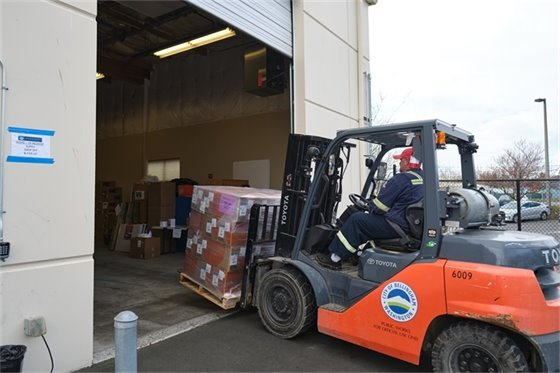 photo of donated supplies being delivered to Whatcom Unified Command