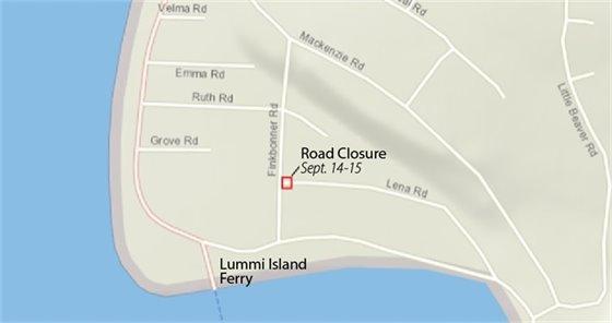 Lena Road Closure Location Map