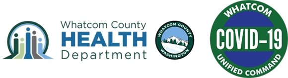 Picture of whatcom county health department logo and whatcom unified command logo