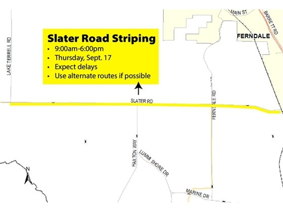 Slater Road Striping Map