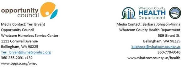 Joint Press Release Header with Opportunity Council and Whatcom County Health Department