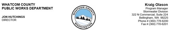 Whatcom County Public Works Letterhead, Stormwater Division