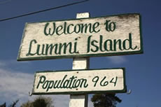 Lummi Island Welcome Sign