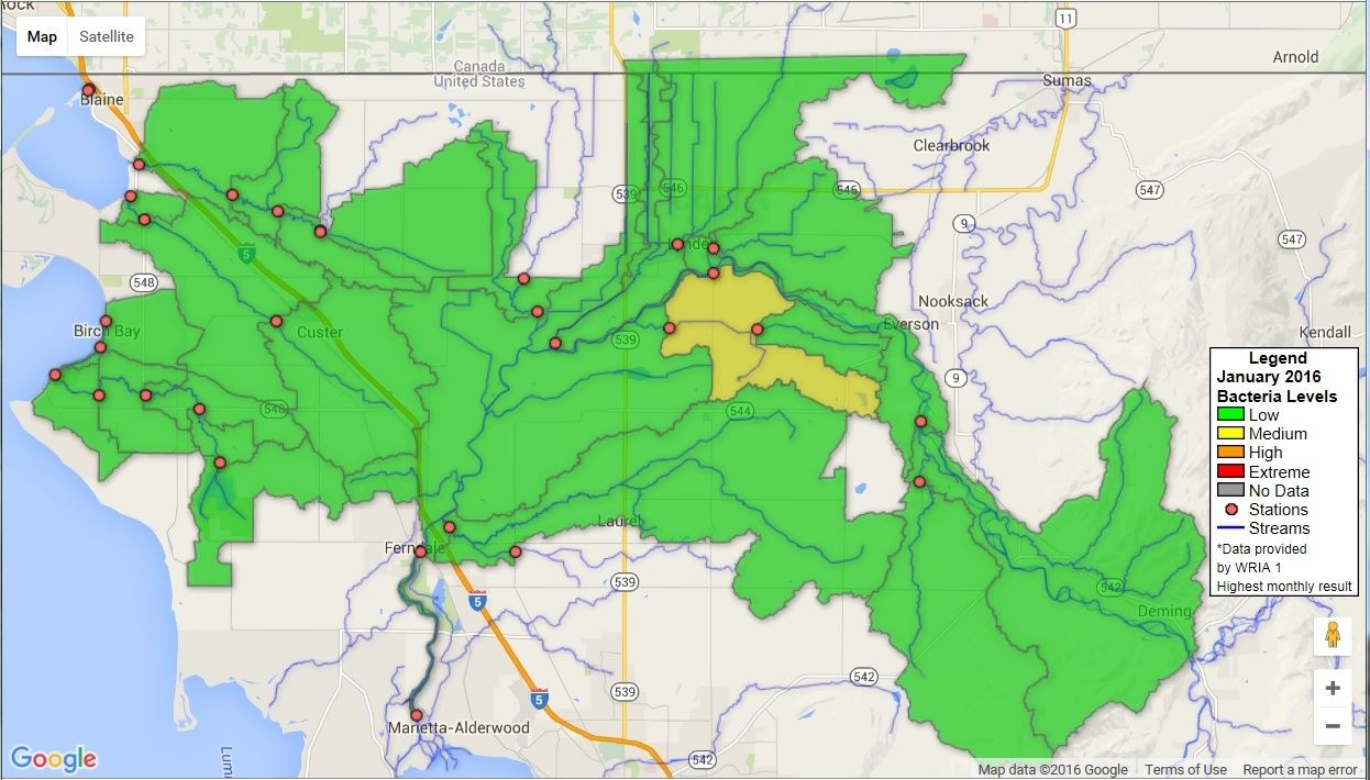Watershed Health Assessment Map