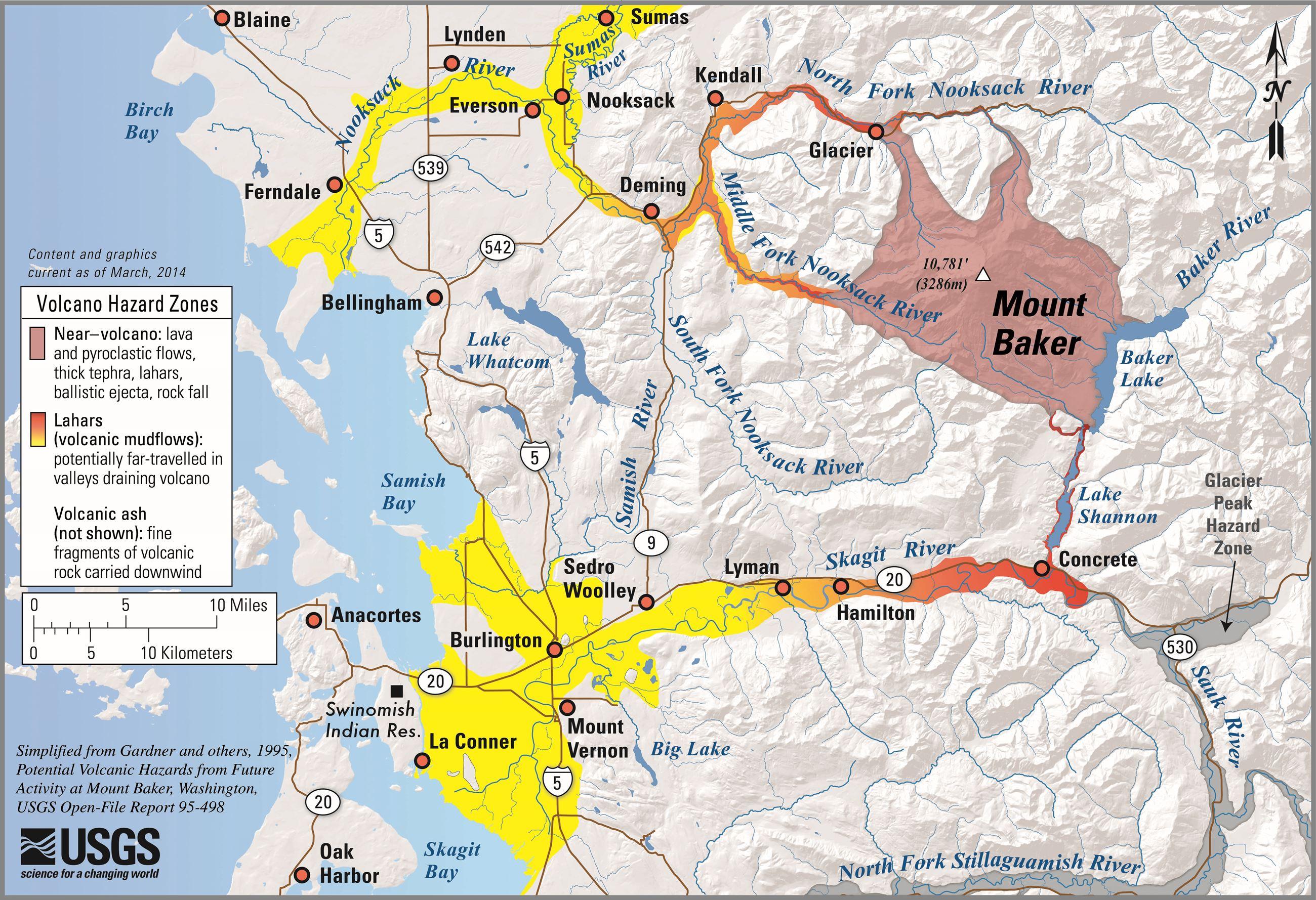 Volcano Mount Baker Whatcom County WA Official Website - Map active volcanos in us