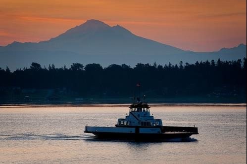 Lummi Island Sunset - Ferry