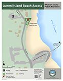 Lummi Island Beach Access map icon 124x160