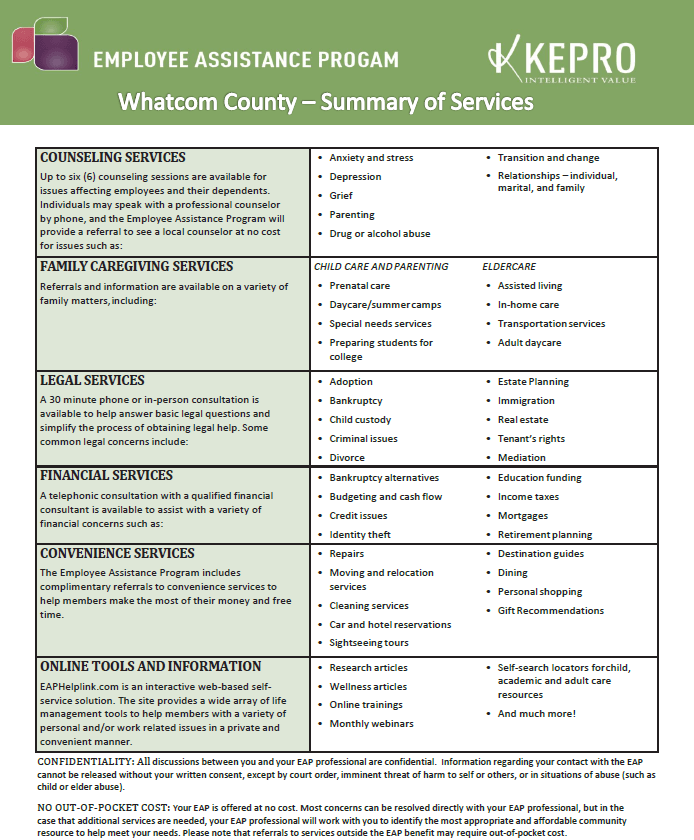 EAP Summary of Services