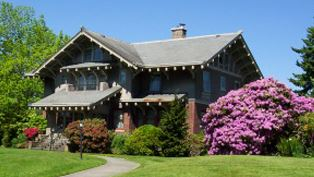Roeder Home with Hydrangeas