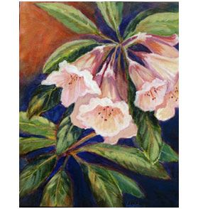 Painting of Rhodedendron by Laurel Baldwin