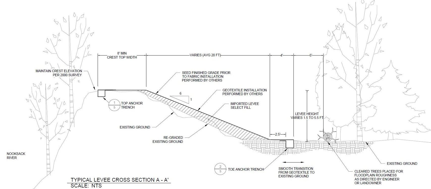 Cross-Section View of Proposed Levee