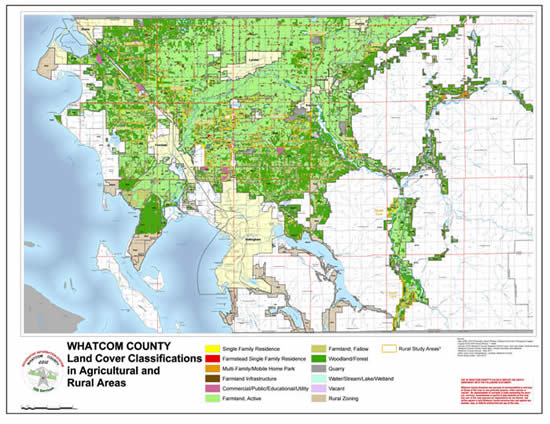Whatcom County Land Cover Classifications in Agricultural & Rural Areas