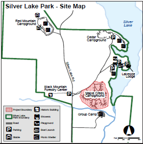 Silver Lake Park Construction Map