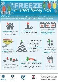 holiday fire infographic
