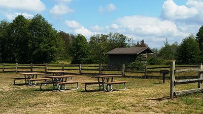 Hovander Blue Picnic Area Tables