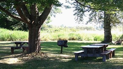Hovander Red Picnic Area Tables