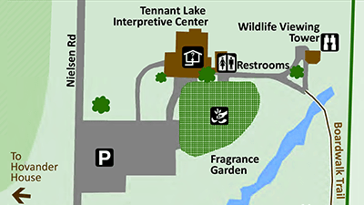 Hovander Tennant Lake/Fragrance Garden map detail