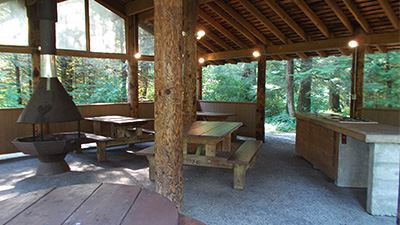 North Red Mountain Picnic Shelter Interior