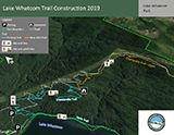 Lake Whatcom Temporary Trails Map icon 160x124