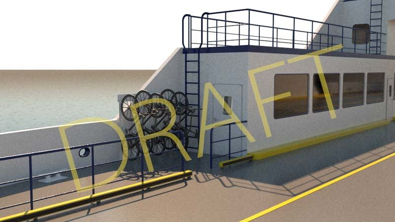 Draft New Ferry Vessel Render 304 bike rack