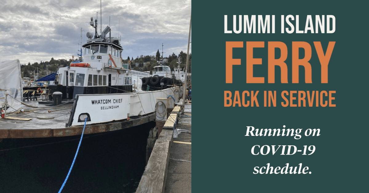 Ferry Back in Service on COVID-19 schedule