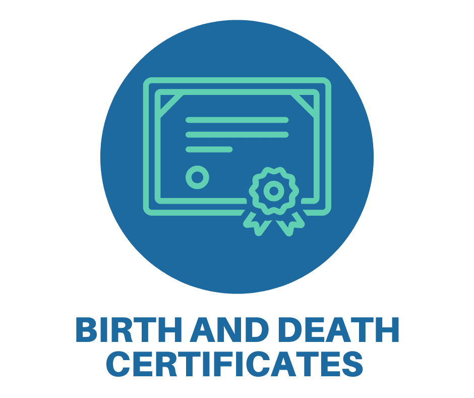 Link to order a birth or death certificate