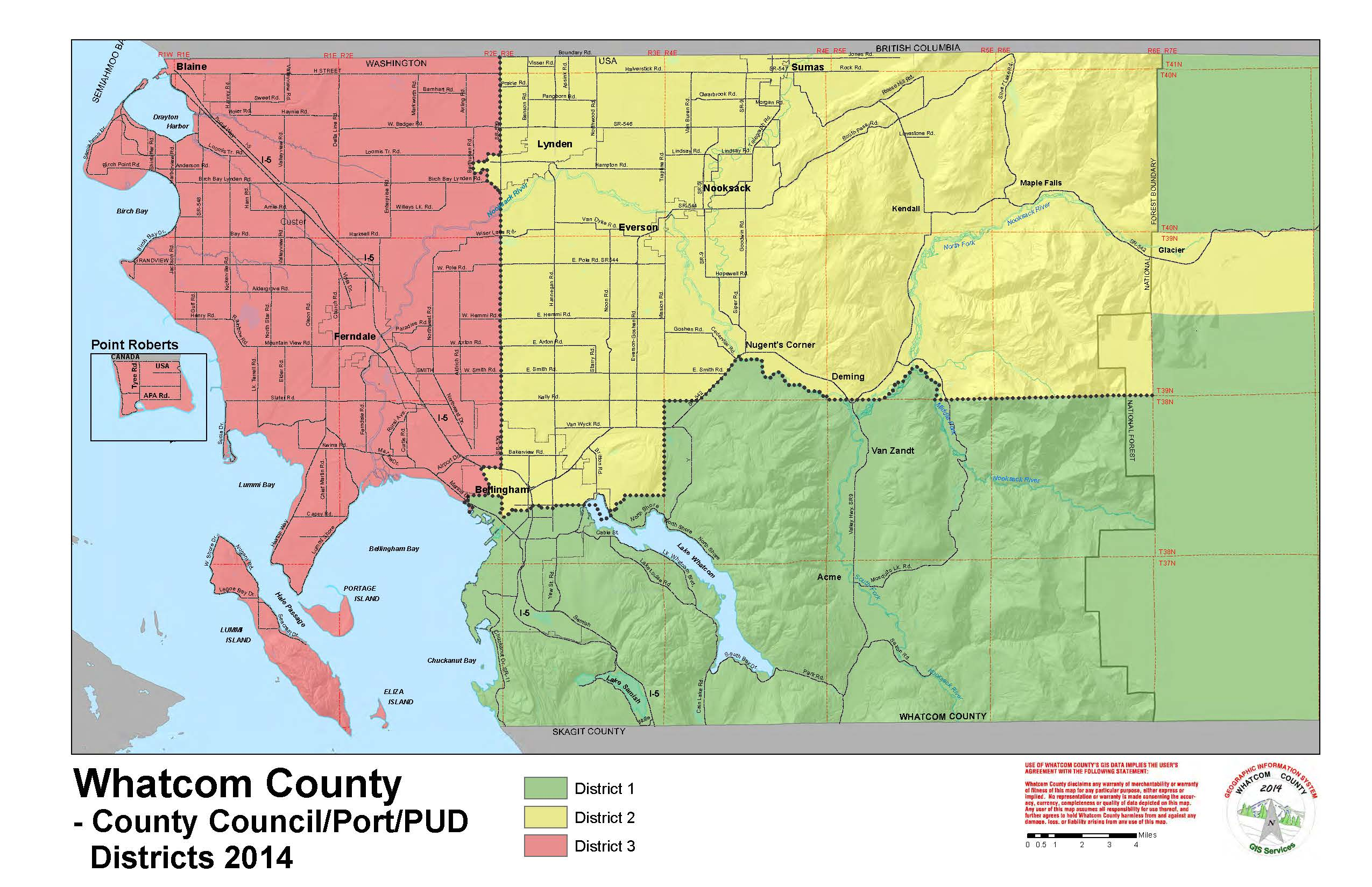 Map Of Whatcom County - USA States Map Collections Map Of Whatcom County on