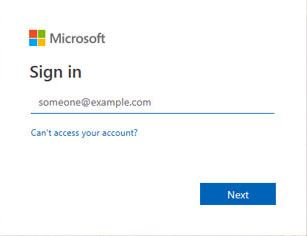 Office 365 Login Screen