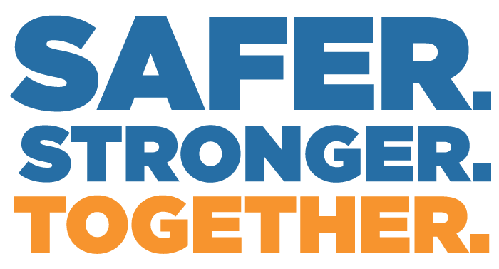 safer stronger together logo