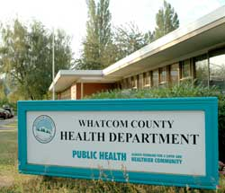 Whatcom County Health Department building and sign