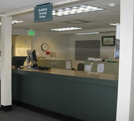 Counter at the Permit Center